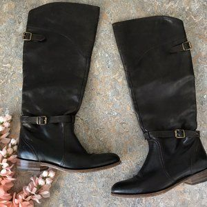 Frye Dorado Brown Tall Riding Boot Shoes
